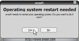 Operating system restart needed