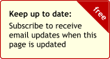 Subscribe to updates newsletter